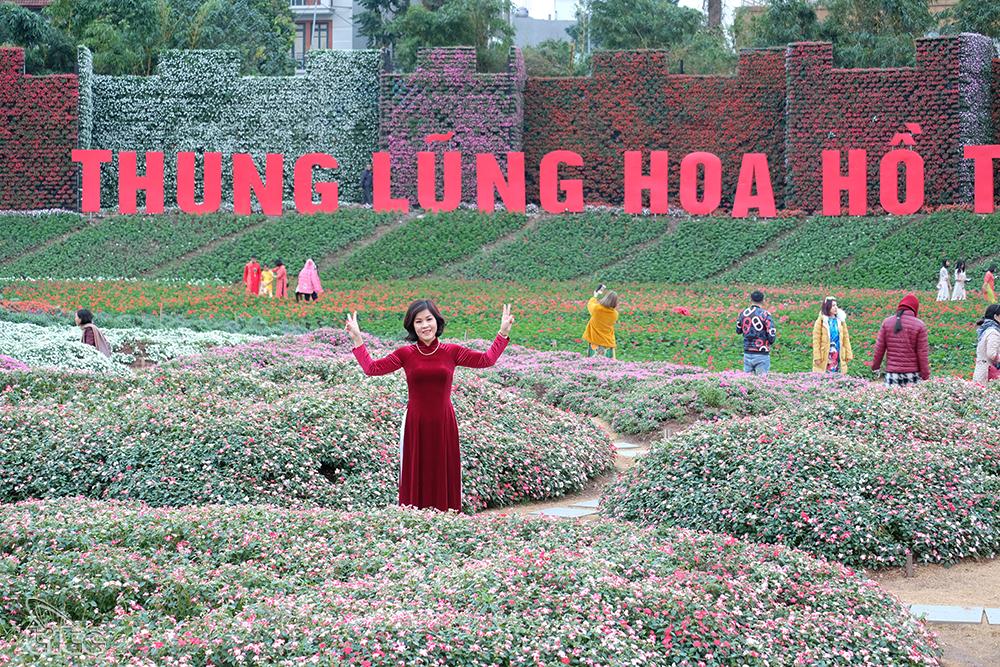 Còn gì tuyệt hơn khi chụp ảnh cưới, ảnh gia đình giữa những thảm hoa đầy màu sắc ngay trong lòng Hà Nội